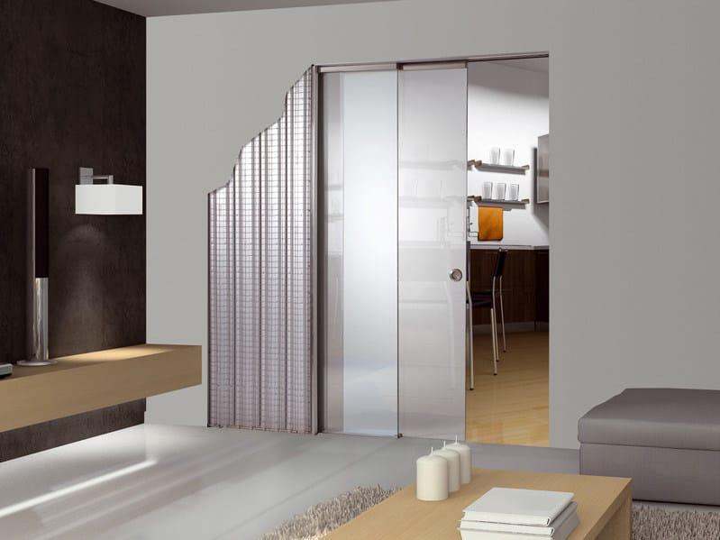 Controtelaio per porte scorrevoli ad ante parallele in for Scrigno porte