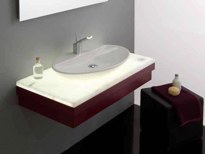 Alabaster washbasin countertop STONE-EVO | Washbasin countertop - LA BOTTEGA DI MASTRO FIORE