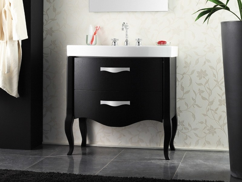 Lacquered vanity unit with drawers ZEUS | Lacquered vanity unit by Mastro Fiore