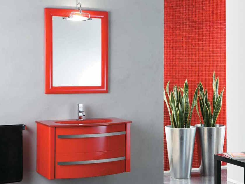 Wall-mounted vanity unit with drawers ZEUS | Wall-mounted vanity unit - LA BOTTEGA DI MASTRO FIORE