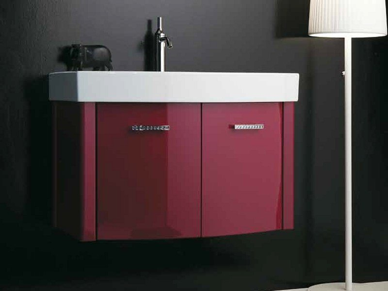 Wall-mounted vanity unit with doors ZEUS | Vanity unit with doors - LA BOTTEGA DI MASTRO FIORE