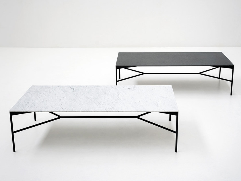 Low rectangular marble coffee table CHILL-OUT | Coffee table - Tacchini Italia Forniture