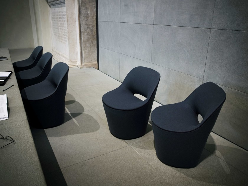 Swivel fabric easy chair EDDY - Tacchini Italia Forniture