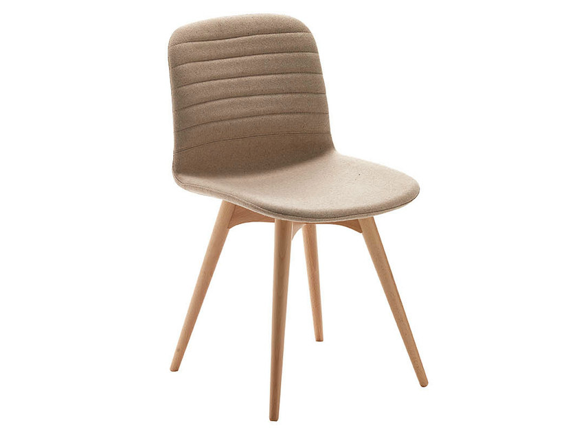 Upholstered wooden chair LIÙ LG | Design chair - Midj