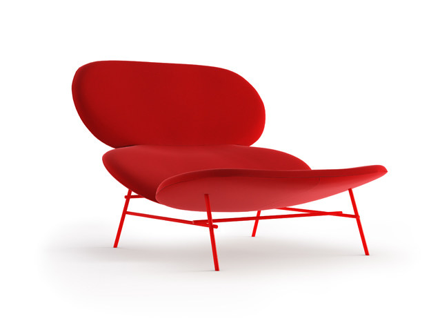 Upholstered relaxing armchair KELLY L by Tacchini