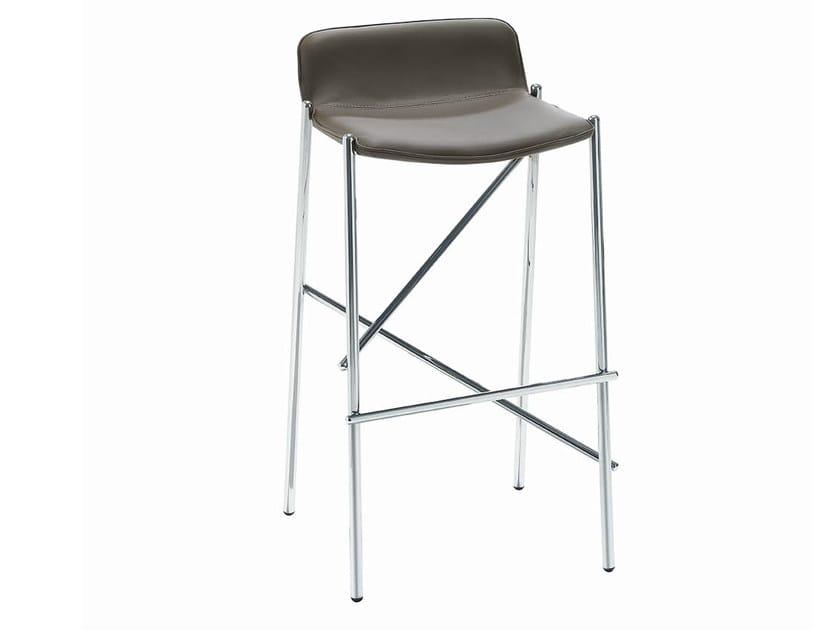 Upholstered barstool TRAMPOLIERE | Barstool - Midj