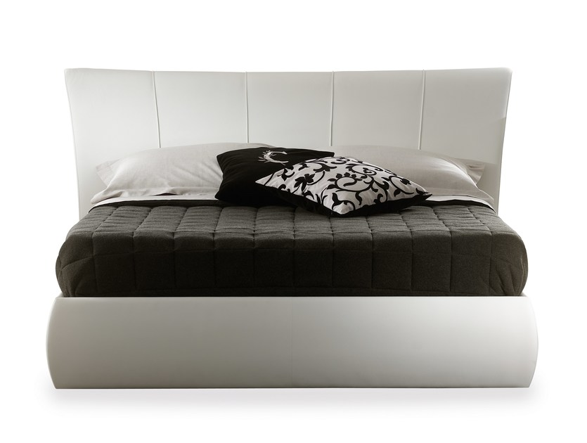 Double bed with upholstered headboard HARRY - Cantori