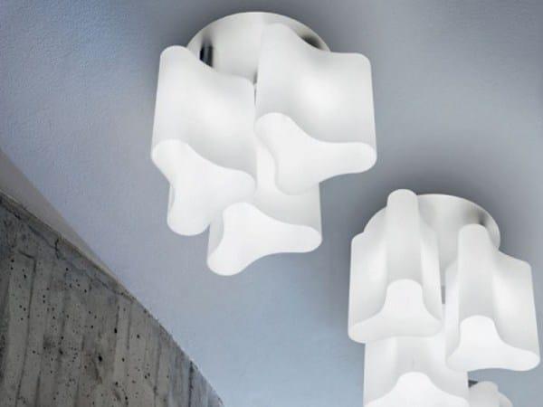 Blown glass ceiling lamp ALVI | Ceiling lamp - PANZERI