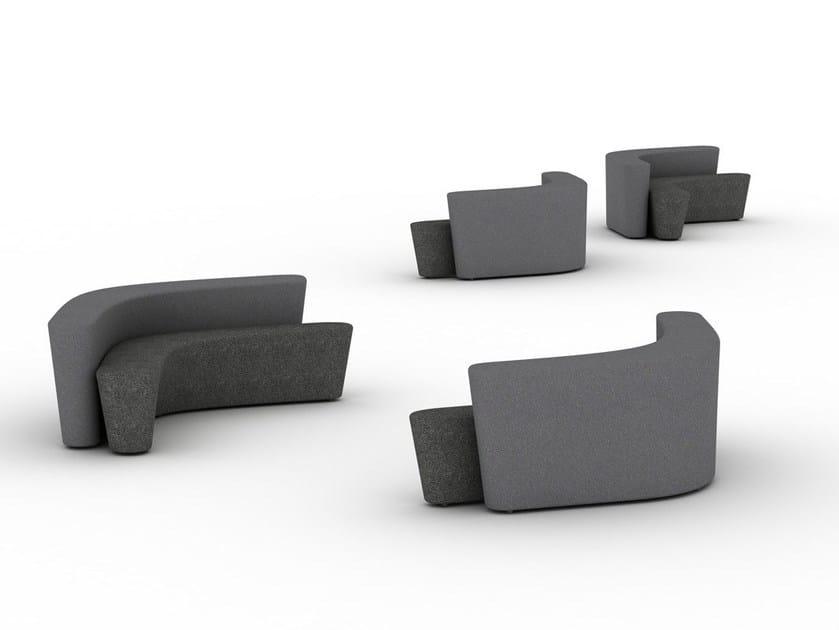 Sectional modular sofa POLAR PERCH - Tacchini Italia Forniture