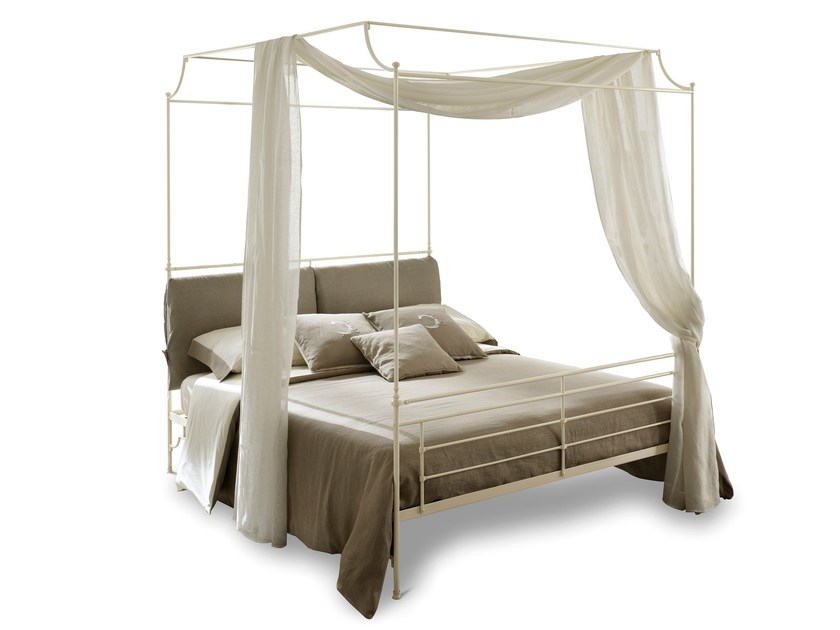 Iron double bed CIRO | Canopy bed - Cantori