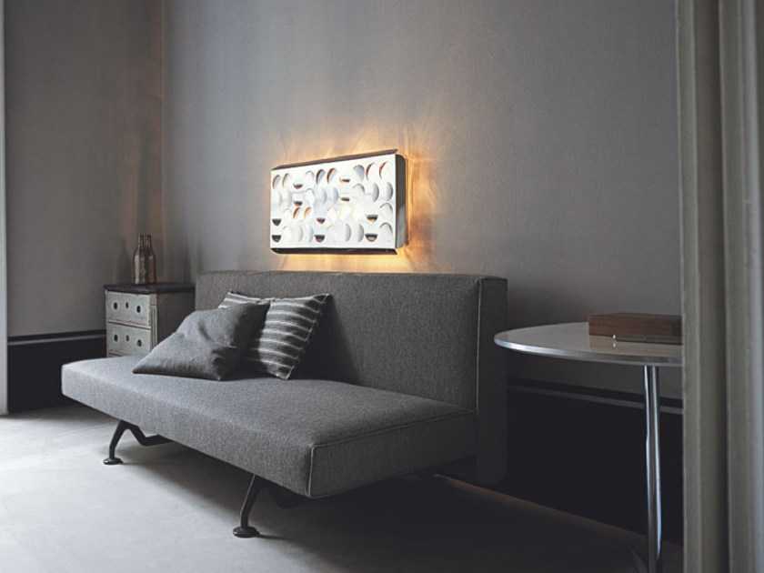 Sofa bed with removable cover SLIDING | Sofa bed - Tacchini Italia Forniture