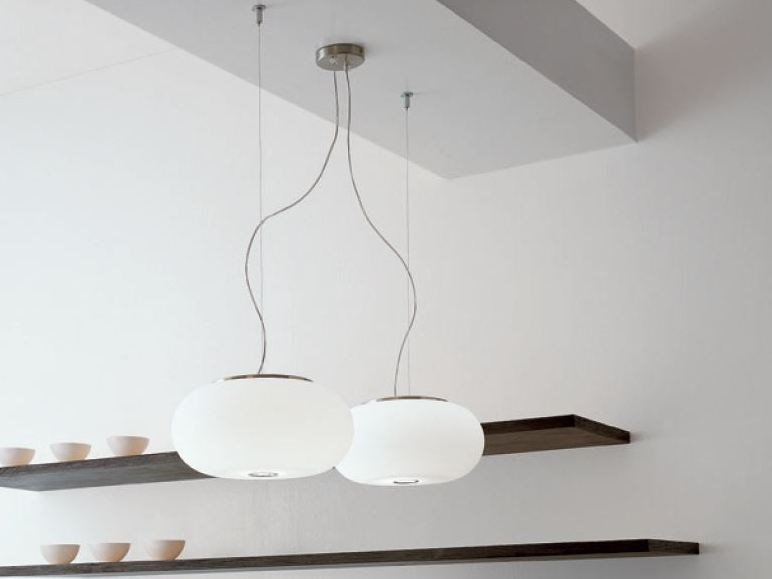 Blown glass pendant lamp BLOW | Pendant lamp - PANZERI