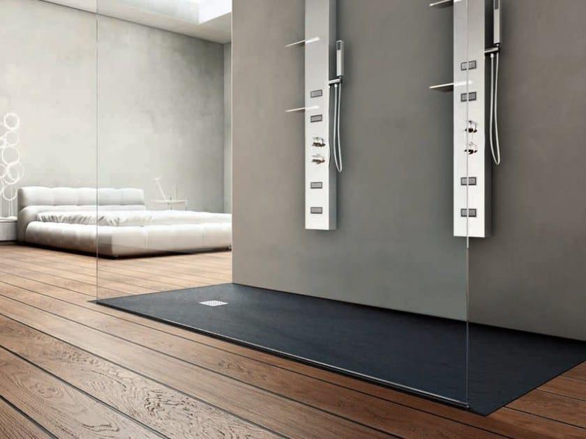 Piatto doccia rettangolare in resina forma piatto doccia for Doccia a pavimento senza piatto