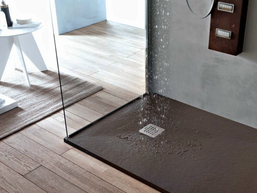 Rectangular resin shower tray FORMA | Shower tray - HAFRO