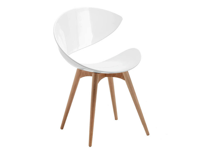 Wooden chair TWIST | Wooden waiting room chair - Midj