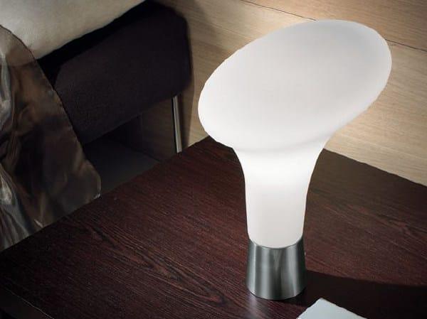 Blown glass bedside lamp BOLLARD | Table lamp - PANZERI