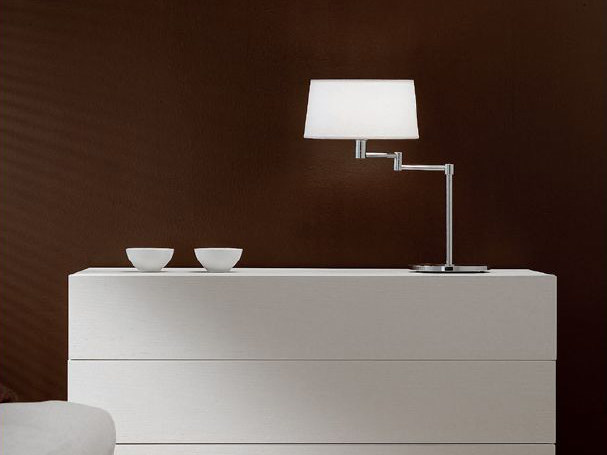 With swing arm table lamp CLASSIC   With swing arm table lamp by PANZERI