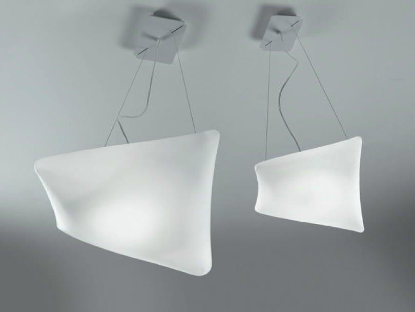 Blown glass pendant lamp DREAMY | Pendant lamp - PANZERI