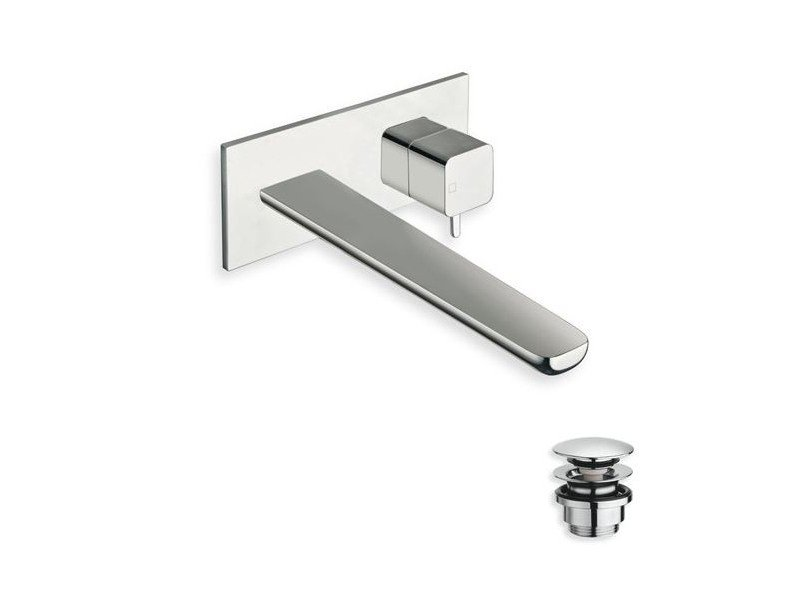 Wall-mounted chrome-plated washbasin mixer KING | Wall-mounted washbasin mixer - CRISTINA Rubinetterie