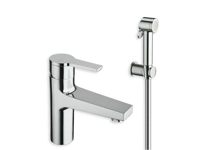 Chrome-plated countertop washbasin mixer with spray DIARIO | Washbasin mixer with spray by CRISTINA