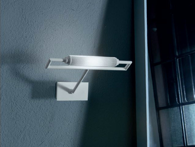 Satin glass wall lamp with fixed arm GLIM   Wall lamp - PANZERI
