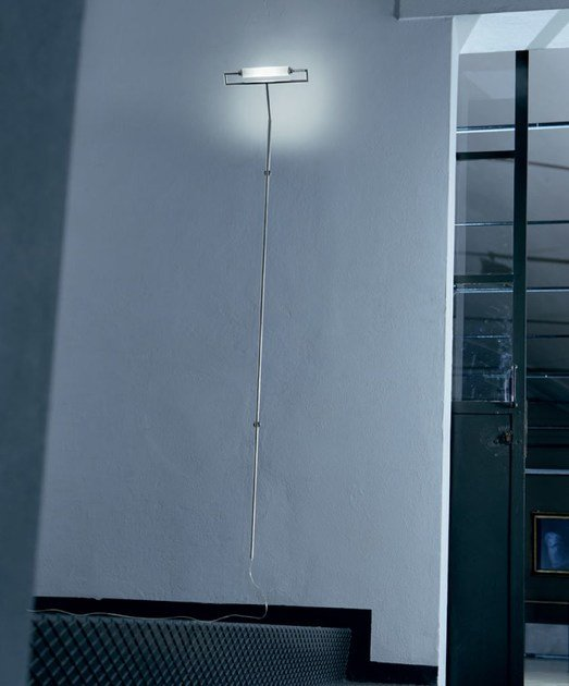 Satin glass wall lamp / floor lamp GLIM | Satin glass wall lamp - PANZERI