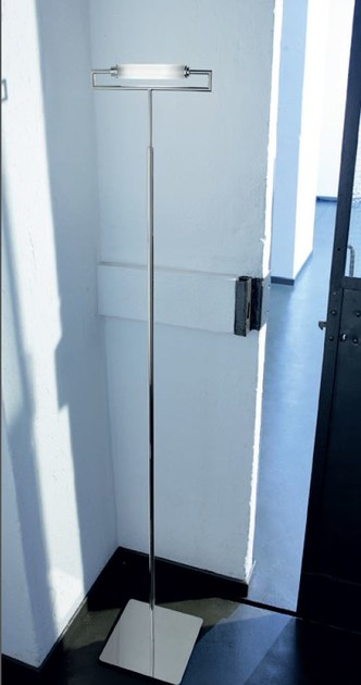 Satin glass floor lamp GLIM | Floor lamp by PANZERI