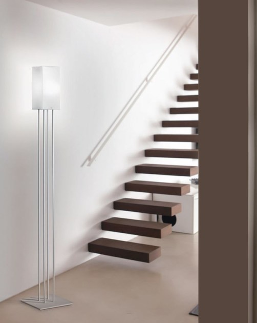Blown glass floor lamp KUBIK | Floor lamp - PANZERI