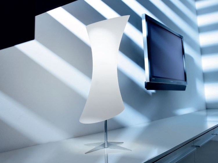Satin glass table lamp LUCILLA | Table lamp - PANZERI