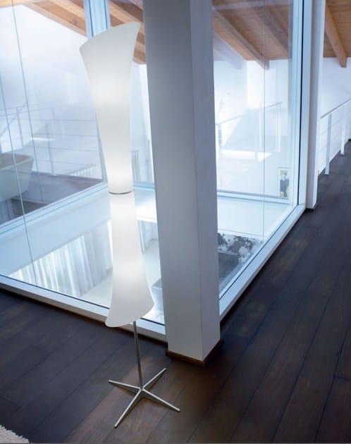 Satin glass floor lamp LUCILLA | Satin glass floor lamp - PANZERI