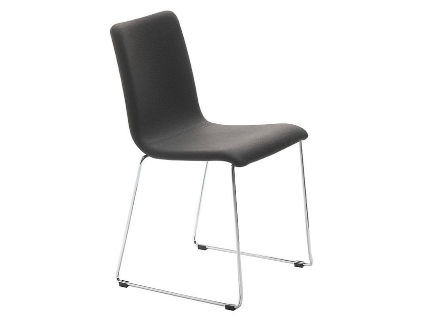 Sled base upholstered chair PASSPARTOUT | Sled base chair - Midj