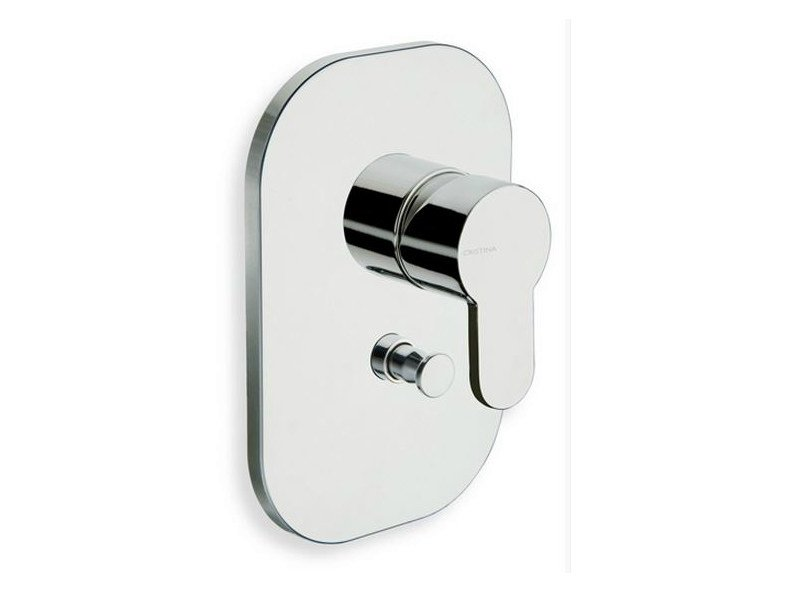 Shower mixer with diverter ROUND | Shower mixer with diverter - CRISTINA Rubinetterie