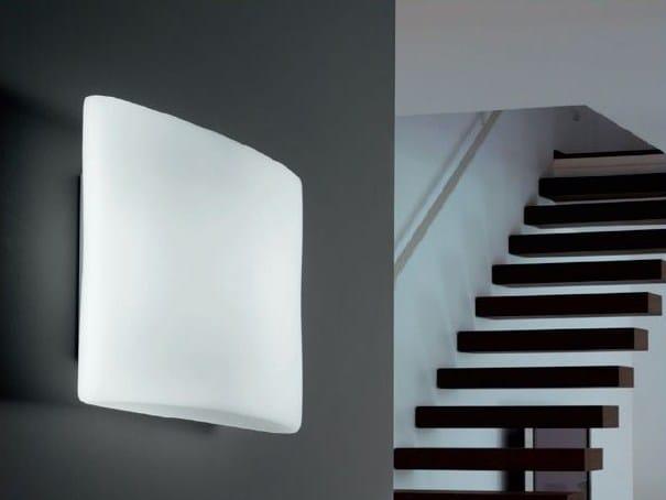 Blown glass wall lamp / ceiling lamp NIGHT - PANZERI
