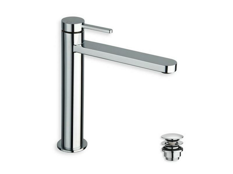 Chrome-plated countertop washbasin mixer UNI/C | Countertop washbasin mixer - CRISTINA Rubinetterie
