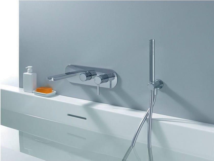 Wall-mounted bathtub mixer with hand shower UNI/C   Bathtub mixer - CRISTINA Rubinetterie