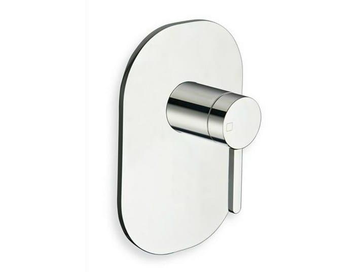 Chrome-plated single handle shower mixer UNI/C | Single handle shower mixer - CRISTINA Rubinetterie