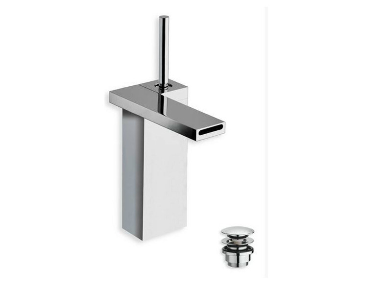Chrome-plated countertop washbasin mixer MODUL | Chrome-plated washbasin mixer - CRISTINA Rubinetterie