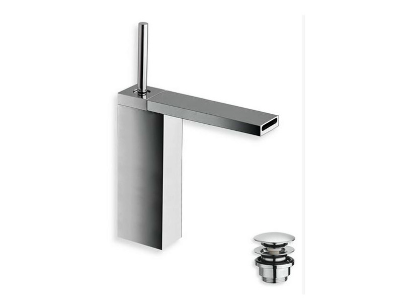 Chrome-plated countertop single handle washbasin mixer MODUL | Countertop washbasin mixer by CRISTINA