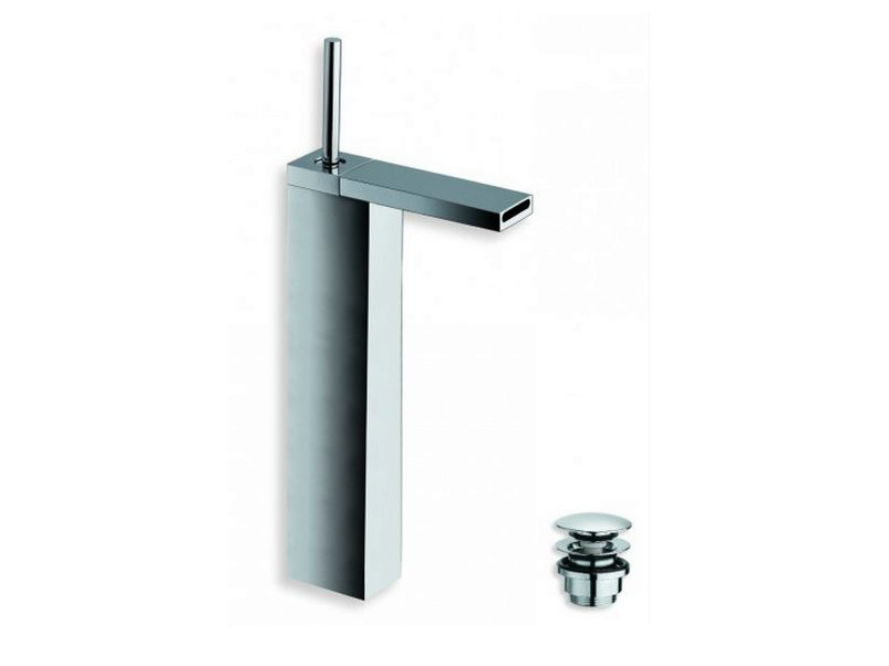 Chrome-plated countertop washbasin mixer MODUL | Single handle washbasin mixer - CRISTINA Rubinetterie