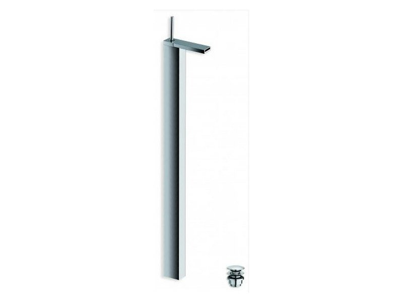 Chrome-plated floor standing washbasin mixer MODUL | Floor standing washbasin mixer by CRISTINA