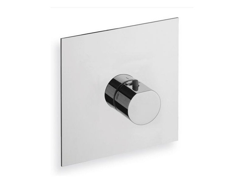 Chrome-plated single handle thermostatic shower mixer MODUL | Single handle thermostatic shower mixer by CRISTINA