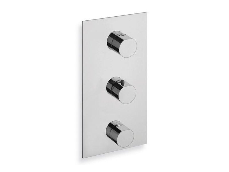 Chrome-plated thermostatic shower mixer MODUL | Chrome-plated thermostatic shower mixer - CRISTINA Rubinetterie