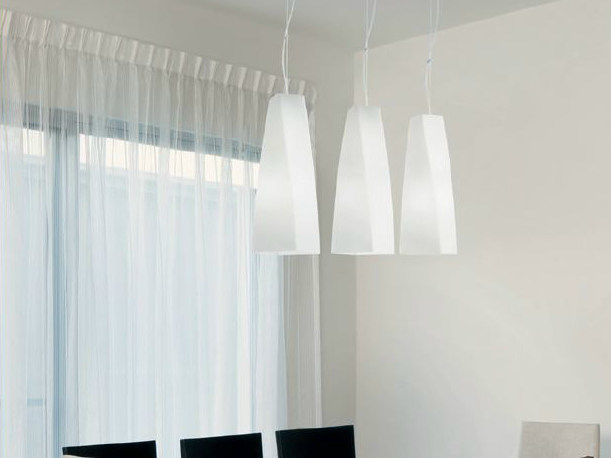 Blown glass pendant lamp SPYRA | Pendant lamp - PANZERI