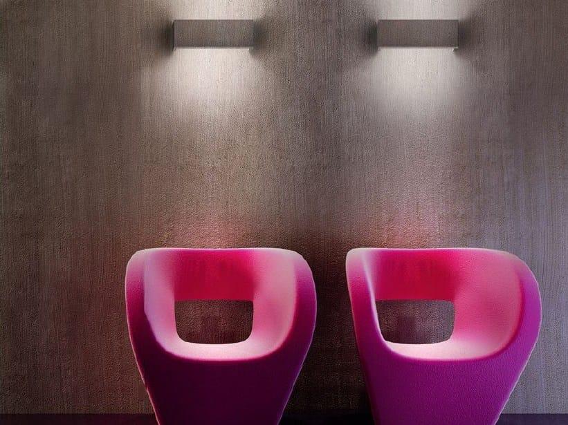 LED satin glass wall light TOY GYPSO by PANZERI