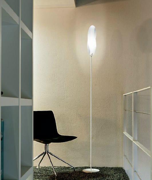 Blown glass floor lamp TRACK   Floor lamp - PANZERI