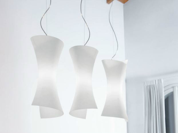 Blown glass pendant lamp TWISTER | Pendant lamp - PANZERI