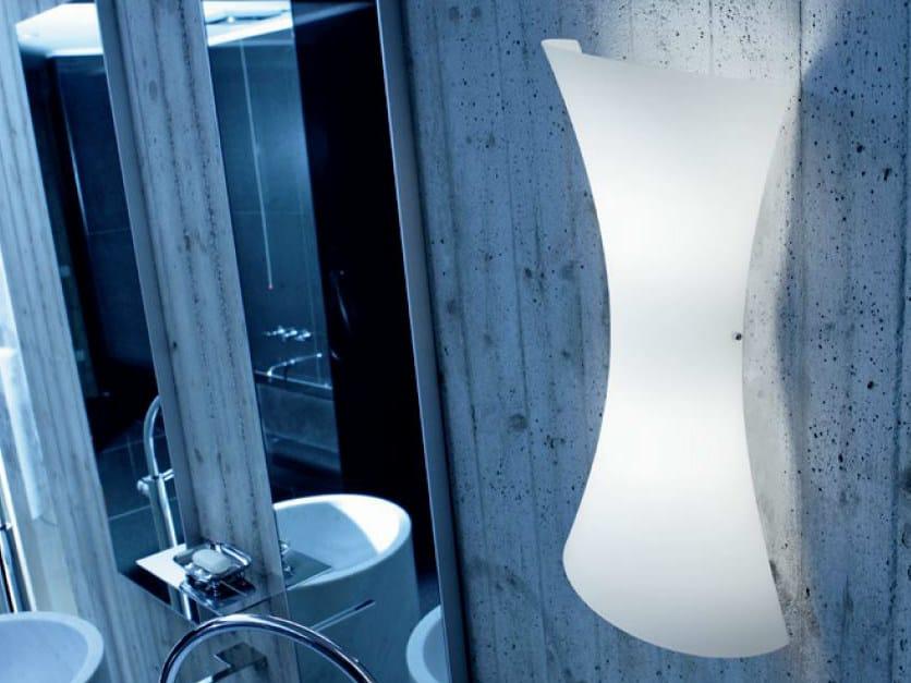Blown glass wall light TWISTER | Blown glass wall light - PANZERI