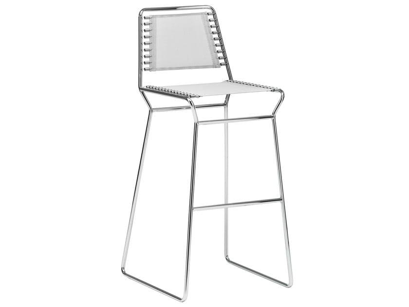 Sled base mesh stool NUDA | Sled base stool - Midj