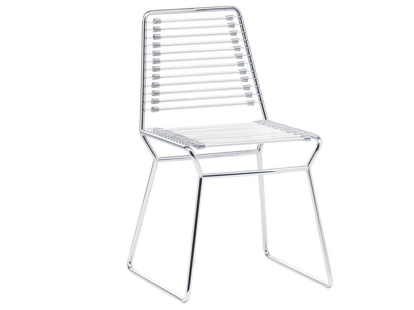 Sled base metal chair NUDA | Sled base chair - Midj