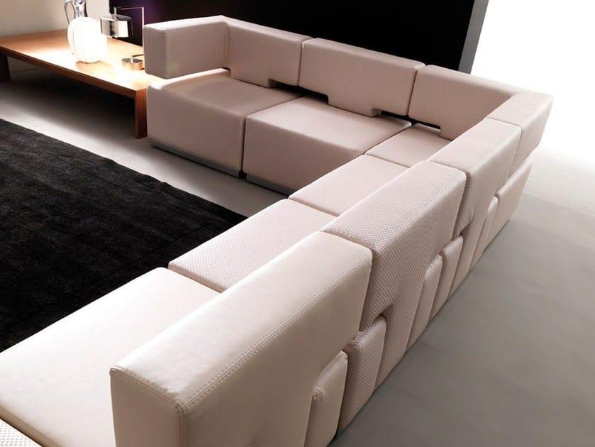 Sectional modular fabric sofa CODE - Esedra by Prospettive